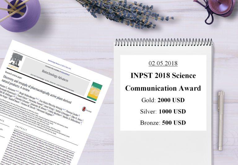 INPST 2018 Science Communication Award